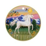 Mt Country/Horse (Ar-W) Ornament (Round)