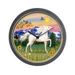 Mt Country/Horse (Ar-W) Wall Clock