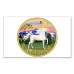 Mt Country/Horse (Ar-W) Rectangle Sticker
