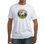 Mt Country/Horse (Ar-W) Fitted T-Shirt
