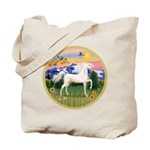 Mt Country/Horse (Ar-W) Tote Bag