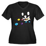 1 Eating Women's Plus Size V-Neck Dark T-Shirt