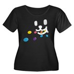 1 Eating Women's Plus Size Scoop Neck Dark T-Shirt