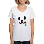 1 Juicy Rainbow Women's V-Neck T-Shirt