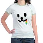 1 Juicy Rainbow Jr. Ringer T-Shirt