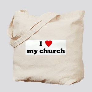I Love my church Tote Bag