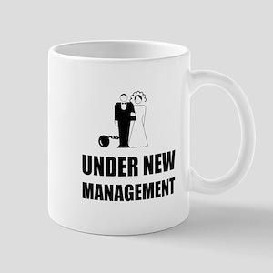 Under New Management Wedding Ball Chain Mugs