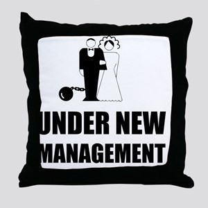 Under New Management Wedding Ball Cha Throw Pillow