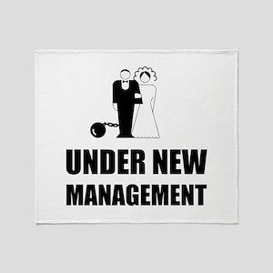 Under New Management Wedding Ball Ch Throw Blanket