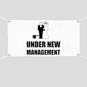 Under New Management Wedding Ball Chain Banner