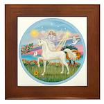 Angel/Horse (Ar-W) Framed Tile