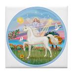 Angel/Horse (Ar-W) Tile Coaster