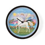 Angel/Horse (Ar-W) Wall Clock