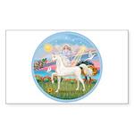 Angel/Horse (Ar-W) Rectangle Sticker 10 pk)