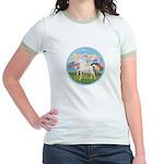 Angel/Horse (Ar-W) Jr. Ringer T-Shirt