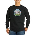 Angel/Horse (Ar-W) Long Sleeve Dark T-Shirt