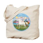 Angel/Horse (Ar-W) Tote Bag