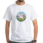 Angel/Horse (Ar-W) White T-Shirt