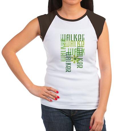 Green Fitness Walker Women's Cap Sleeve T-Shirt