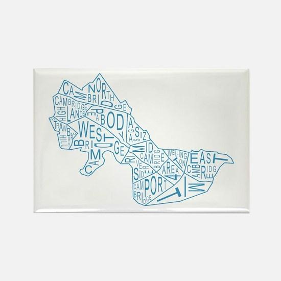 Cute Massachusetts Rectangle Magnet