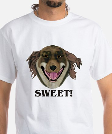 Big Dumb Dog - SWEET! White T-Shirt