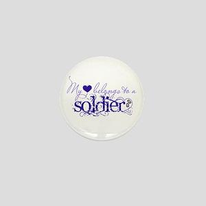 My heart belongs to a Soldier Mini Button