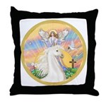 Blessings/Horse (Ar-W) Throw Pillow