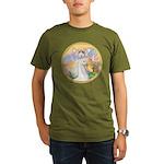 Blessings/Horse (Ar-W) Organic Men's T-Shirt (dark