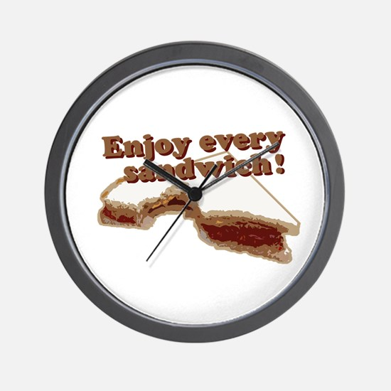 Enjoy Every Sandwich Wall Clock