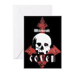 Coven Skull Halloween Cards (Pk of 10)
