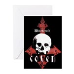 Coven Skull Halloween Cards (Pk of 10)