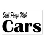 Plays With Cars Rectangle Sticker