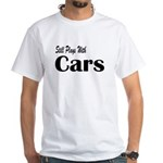 Plays With Cars White T-Shirt