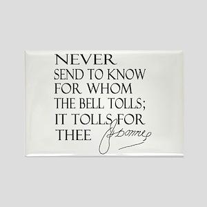 Bell Tolls Rectangle Magnet