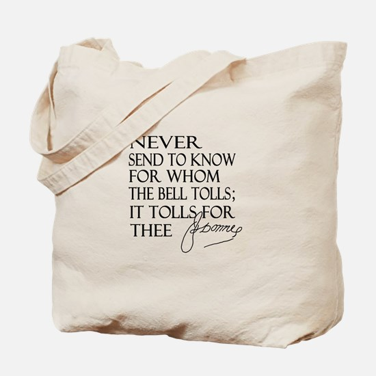 Bell Tolls Tote Bag
