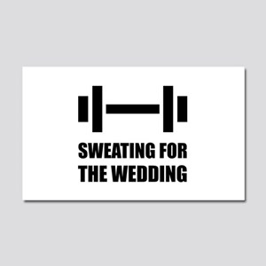 Sweating For The Wedding Car Magnet 20 X 12