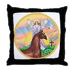 Blessings/Horse (Ar-Brn) Throw Pillow