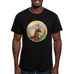Blessings/Horse (Ar-Brn) Men's Fitted T-Shirt (dar