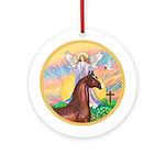 Blessings/Horse (Ar-Brn) Ornament (Round)