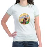 Blessings/Horse (Ar-Brn) Jr. Ringer T-Shirt