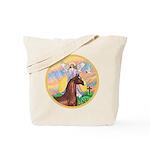 Blessings/Horse (Ar-Brn) Tote Bag