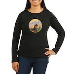 Blessings/Horse (Ar-Brn) Women's Long Sleeve Dark