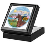 Angel/Horse (Ar-Brn) Keepsake Box