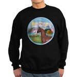 Angel/Horse (Ar-Brn) Sweatshirt (dark)