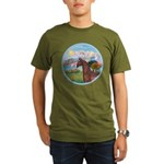 Angel/Horse (Ar-Brn) Organic Men's T-Shirt (dark)