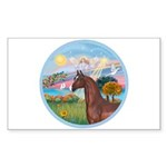 Angel/Horse (Ar-Brn) Rectangle Sticker 10 pk)