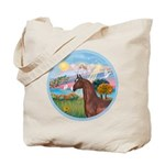 Angel/Horse (Ar-Brn) Tote Bag