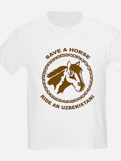 Ride An Uzbekistani Kids T-Shirt
