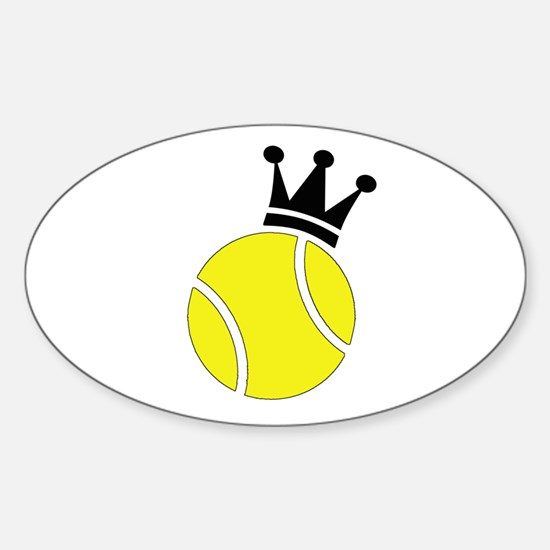 King of the Court Oval Decal