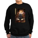 Queen / Cocker Spaniel (blk) Sweatshirt (dark)
